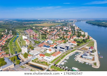 Stock photo: Vukovar town square and architecture street view