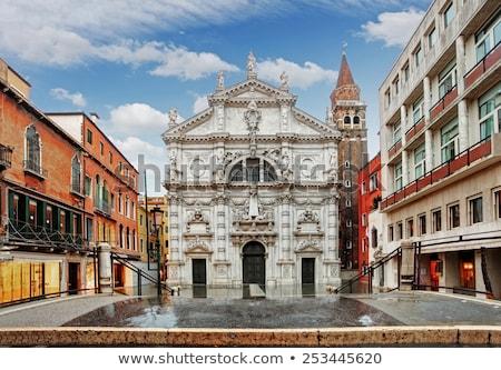 katholiek · kerk · Italië · Rood · baksteen - stockfoto © givaga