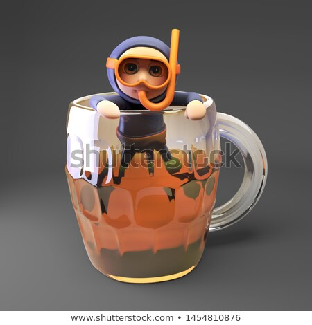 Cartoon Drunk Snorkeler  Stock photo © cthoman