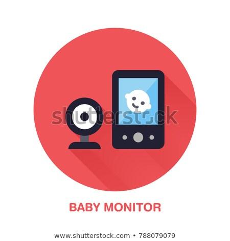 Bebek izlemek vektör ikon yalıtılmış beyaz Stok fotoğraf © smoki