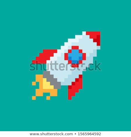 Digitális vektor pixel művészet digitális technológia hálózat Stock fotó © frimufilms