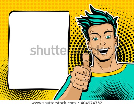 Cartoon sorprendido surfista mirando vector Foto stock © cthoman