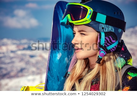 Snowboard trainer Stock photo © Anna_Om