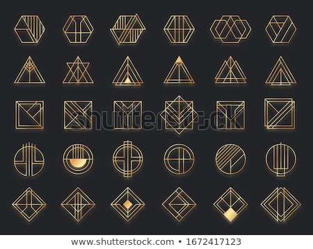 geometry frame abstract black vector icon Stock photo © blaskorizov
