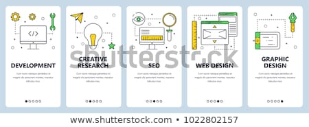 linha · educação · aprendizagem · teia · computador · abstrato - foto stock © decorwithme