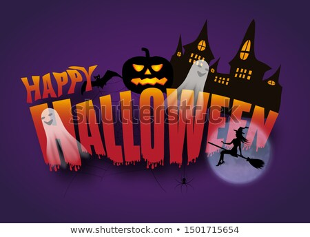 Happy Halloween Poster with Apparitions Vector Stock photo © robuart