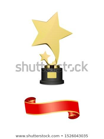 Trofee gunning schieten sterren eigenaardig houten Stockfoto © robuart