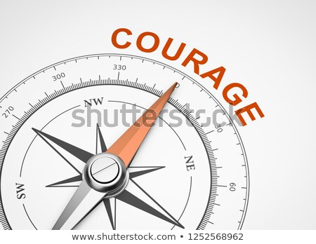 compass on white background courage concept stock photo © make