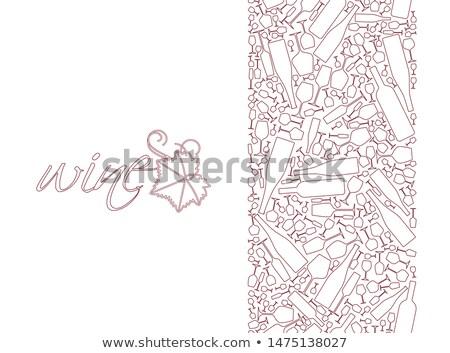 wine shop   modern line design style illustration stock photo © decorwithme