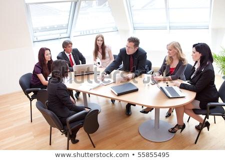 Lavoro compito incontro di lavoro impiegati boss Foto d'archivio © robuart