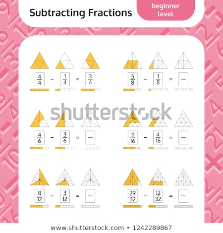 Math fraction education worksheet Stock photo © bluering