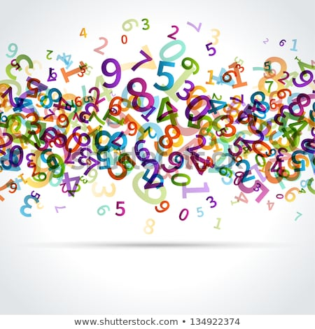 counting numbers one to nine poster stock photo © colematt
