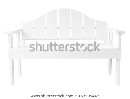 Legno panchina bianco uno illustrazione 3d legno Foto d'archivio © make