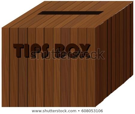 広場 木製 ボックス ヒント 実例 背景 ストックフォト © colematt