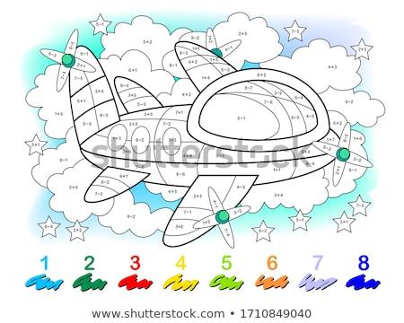 addition educational game color book worksheet stock photo © izakowski