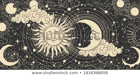 Astrological pattern, celestial background. Heaven with Stars, occult signs and mystical symbols. Stock photo © Glasaigh