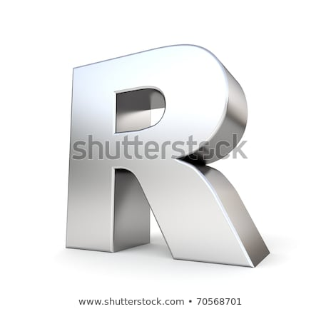 Chrome font with colorful reflections Letter R 3D Stock photo © djmilic