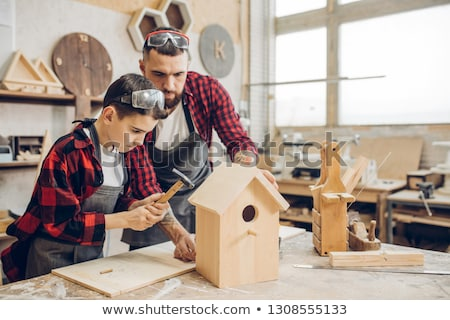 Birdhouse made of wood Stock photo © colematt