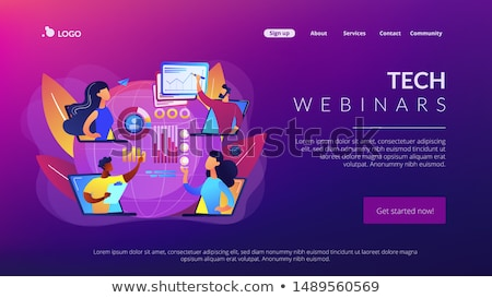Digital presentation concept landing page. Stock photo © RAStudio