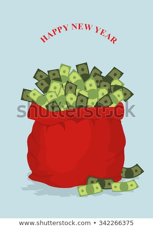 Man with dollar sacks on white Stock photo © Elnur