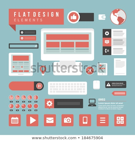 mobile application and mobile app development isometric concept flat vector illustration stock photo © makyzz