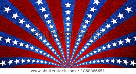 Patriotic grunge swirl with stars and stripes Stock photo © bestmoose