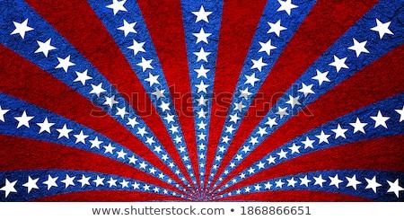 Patriotyczny grunge obracać gwiazdki fractal Zdjęcia stock © bestmoose