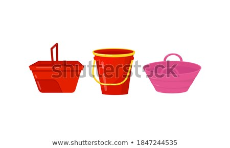 Ingesteld emmer verschillend kleur maat illustratie Stockfoto © bluering