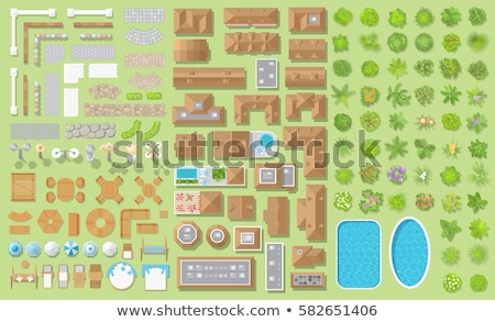 set of aerial garden view stock photo © bluering