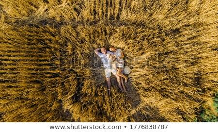 gelukkig · gezin · moeder · vader · kind · dochter · natuur - stockfoto © ElenaBatkova