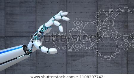ロボット · ホイール · 3次元の図 · 青 · 白 · 技術 - ストックフォト © limbi007