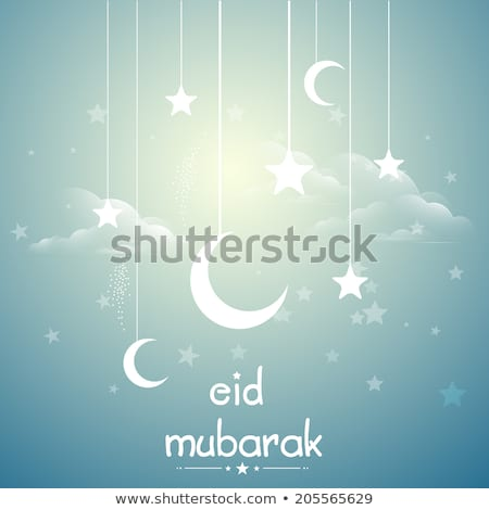 arabic eid festival moon and star banner Stock photo © SArts