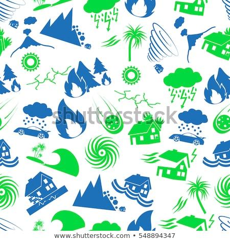 naturalismo · catástrofe · ícones · inundação · terremoto · tsunami - foto stock © netkov1