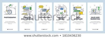 Copywriting app interface template. Stock photo © RAStudio