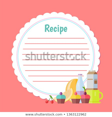 Clean Recipe Decorated by Fruit and Bottle Vector Stock photo © robuart