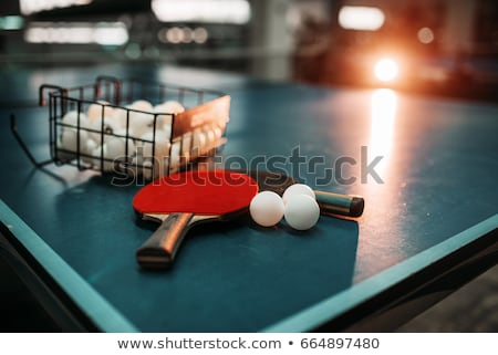 Ping pong bal spelen hout sport oranje Stockfoto © pedrosala