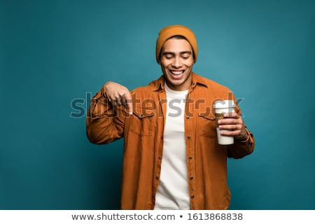 Man Pointing His Finger Down Stock photo © AndreyPopov