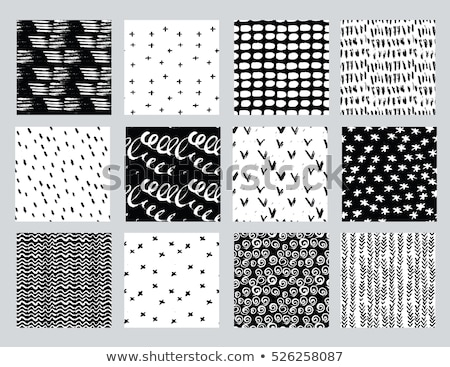 Hand drawn polygraphy pattern Stock photo © netkov1