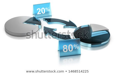 merchandising concept pareto principle rule of vital fiew 20 stock photo © olivier_le_moal