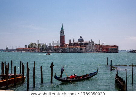Row Of Gondolas In Front Of San Giorgio Maggiore Stock photo © AndreyPopov