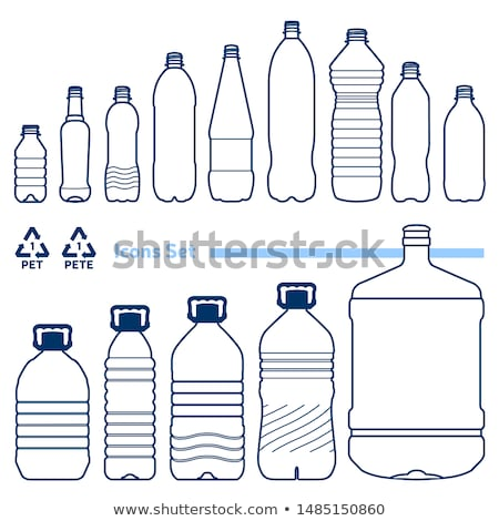 Water bottle with planet graphic Stock photo © bluering