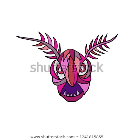 Mothman Head Mosaic Stock photo © patrimonio