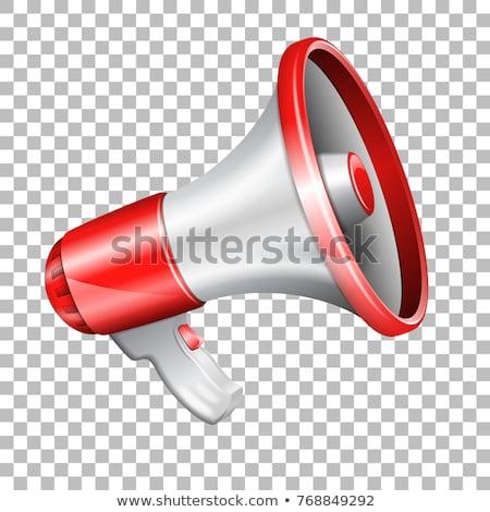 Loudspeaker Icon, Colorful 3D Megaphone Vector Stock photo © robuart