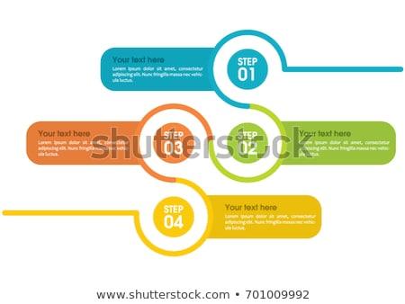 Dört adımlar zaman Çizelgesi şablon dizayn Stok fotoğraf © SArts