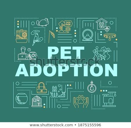 Pet services concept banner header Stock photo © RAStudio