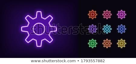 Versnelling neonreclame computer promotie business werk Stockfoto © Anna_leni