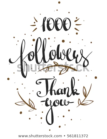 1000 followers celebration background in doodle style Stock photo © SArts