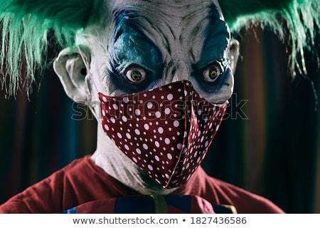 Scary zło clown cyrku namiot Zdjęcia stock © nito