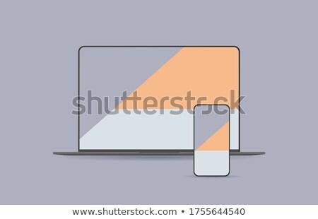 画面 · スマートフォン · 手 · 孤立した - ストックフォト © pikepicture