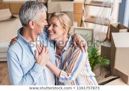 High angle view of senior couple holding hands of each other on the beach Stock photo © wavebreak_media